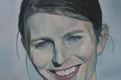 Chelsea Manning, 100x100cm, oil on canvas, 2020