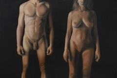 Adam and Eve 2, 210x170cm, oil on canvas, 2020