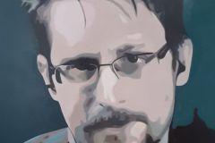 Edward Snowden, 100x100cm, oil on canvas, 2020