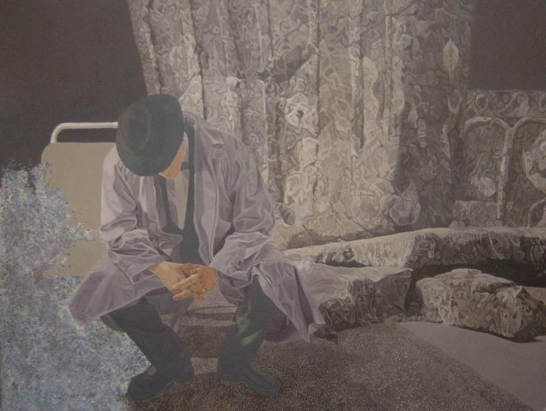 Departure 2, 160x140cm, oil on canvas, 1994
