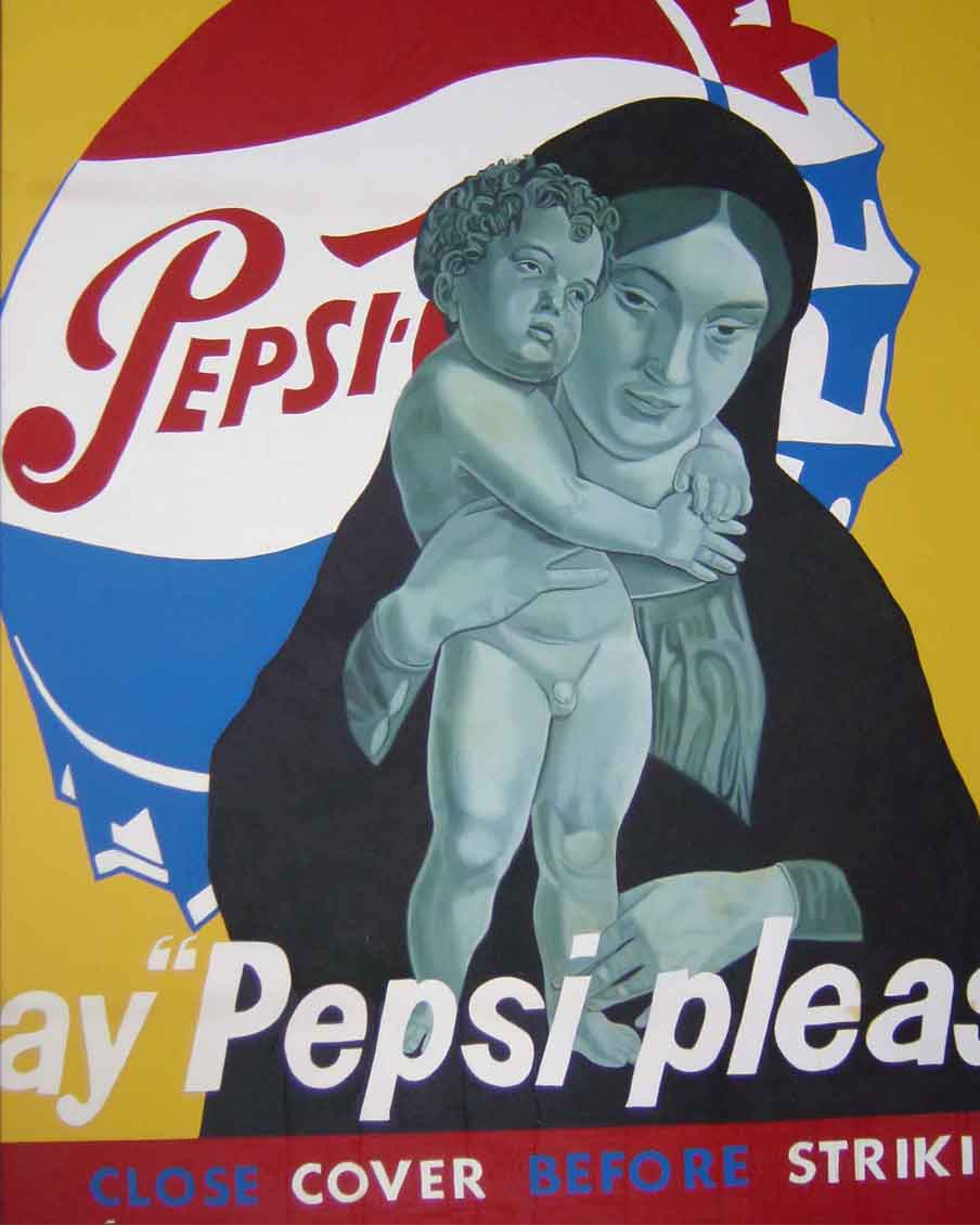 SAY-PEPSY-PLEASE,-Oil-on-canvas,200x160cm,--1999