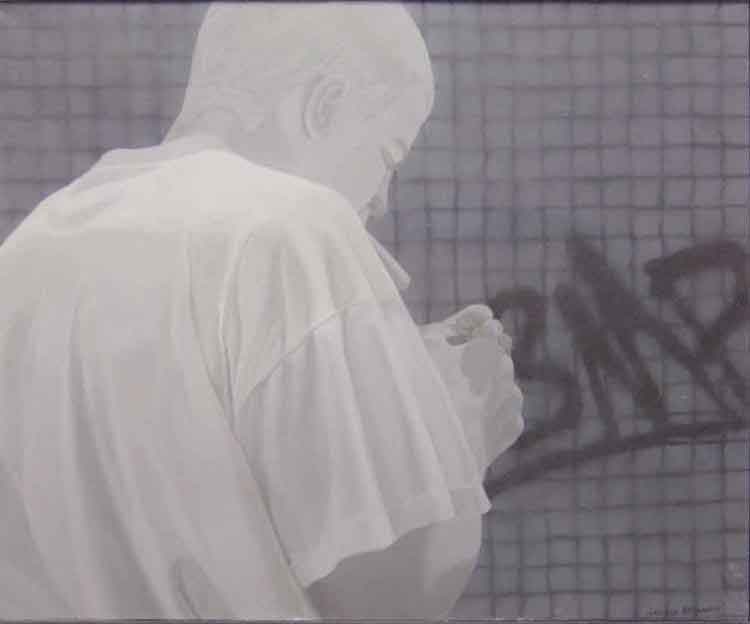 Smoker,-90x120cm,-oil-on-canvas,-1997